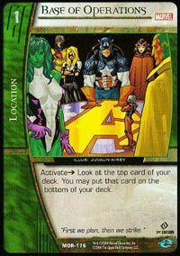 Marvel Origins - Cartes Vs System Autres jeux de cartes MOR-176 - Base des Opérations (C) - Vs System