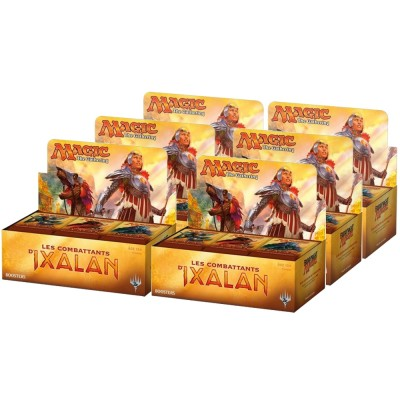 Boites de Boosters Magic the Gathering Les combattants d'Ixalan - Carton De 6 Boites De 36 Boosters Magic - (en Français)