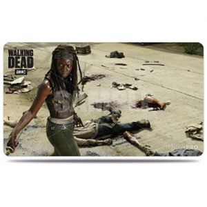 Tapis de Jeu Accessoires Pour Cartes Playmat - The Walking Dead - Michonne