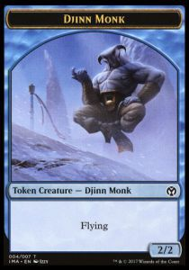 Tokens Magic Magic the Gathering Token/jeton - Iconic Masters - 04/7 Djinn Et Moine