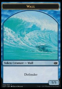 Tokens Magic Magic the Gathering Token/Jeton - Mur - Duel deck Merfolk vs Goblins