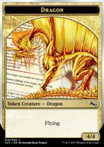 Tokens Magic Magic the Gathering Token/Jeton Foil - Unstable - Dragon