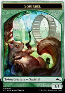 Tokens Magic Magic the Gathering Token/Jeton Foil - Unstable - Squirrel
