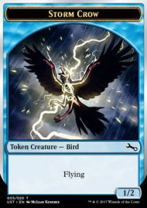 Tokens Magic Magic the Gathering Token/Jeton Foil - Unstable - Storm Crow