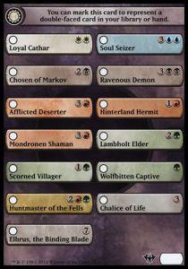 Token Magic Magic the Gathering Token/Jeton - Dark Ascension - Checklist