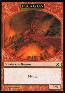 Tokens Magic Magic the Gathering Token/Jeton - 10eme Edition - Dragon (Italien)