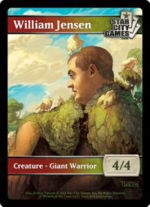 Tokens Magic Magic the Gathering Token/jeton - GIANT WARRIOR - Star City Games - (WILLIAM JENSEN)
