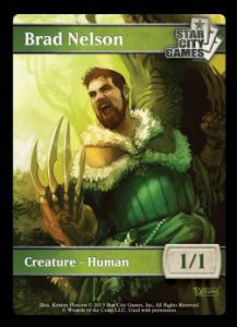 Tokens Magic Magic the Gathering Token/jeton - HUMAN - Star City Games - (BRAD NELSON)