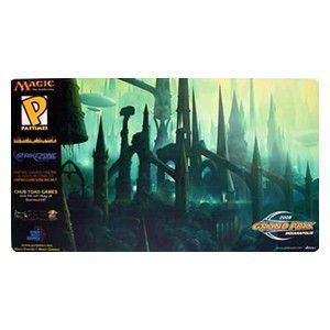 Tapis de Jeu Magic the Gathering Playmat Promo - Grand Prix - Indianapolis 2008 - Forest