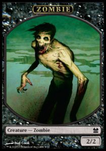 Tokens Magic Magic the Gathering Token/Jeton - Modern Masters - 08/16 Zombie