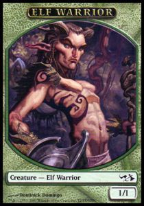 Tokens Magic Magic the Gathering Token/Jeton - Duel Decks: Elves vs Goblins - Elf warrior