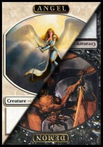 Tokens Magic Magic the Gathering Token/Jeton - Avacyn ressuscitée - double -  Ange/Demon