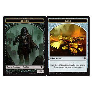 Tokens Magic Magic the Gathering Token/Jeton - Commander 2017 - Double : zombie / Gold