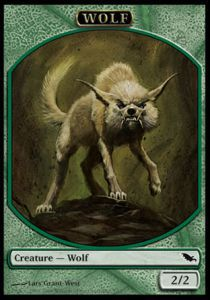 Tokens Magic Magic the Gathering Token/Jeton - Sombrelande - Loup (Italien)