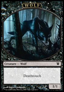 Tokens Magic Magic the Gathering Token/Jeton - Innistrad - Loup Noir (Italien)
