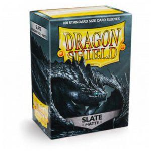 Protèges Cartes Accessoires Pour Cartes 100 Pochettes Dragon Shield Matte - Slate - Acc