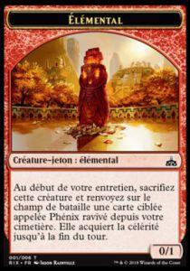 Tokens Magic Token/jeton - Les Combattants D'ixalan / Rivals Of Ixalan - Elemental (0/1)