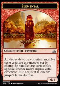 Tokens Magic Accessoires Pour Cartes Token/jeton - Les Combattants D'ixalan / Rivals Of Ixalan - Elemental (0/1)