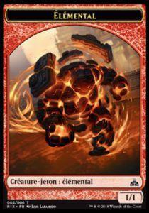 Tokens Magic Token/jeton - Les Combattants D'ixalan - 02/6 Elemental