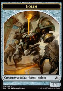 Token Magic Token/jeton - Les Combattants D'ixalan - 04/6 Golem