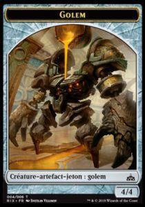 Tokens Magic Accessoires Pour Cartes Token/jeton - Les Combattants D'ixalan / Rivals Of Ixalan -  Golem