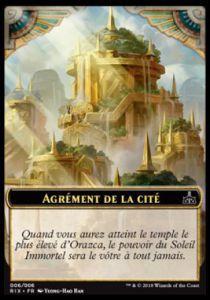 Tokens Magic Token/jeton - Les Combattants D'ixalan - 06/6 Agrément De La Cité