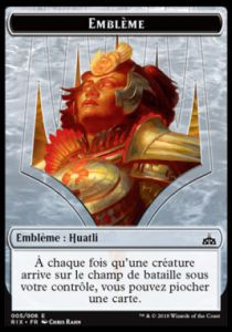Tokens Magic Magic the Gathering Token/jeton - Les Combattants D'ixalan - 05/6 Emblème Huatli, Championne Radieuse