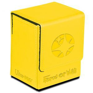 Boites de rangement illustrées Accessoires Pour Cartes Flip Box Ultra Pro - Force Of Will - Light Magic Stone (jaune) - Acc