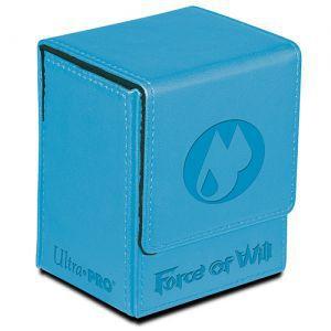 Boites de rangement illustrées Accessoires Pour Cartes Flip Box Ultra Pro - Force Of Will - Water Magic Stone (bleu) - Acc