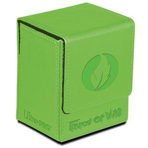 Boites de rangement illustrées Accessoires Pour Cartes Flip Box Ultra Pro - Force Of Will - Wind Magic Stone (vert) - Acc
