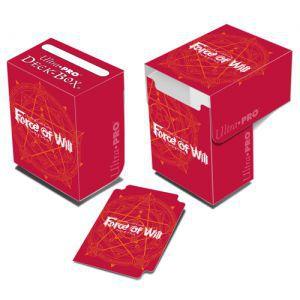 Boites de rangement illustrées Accessoires Pour Cartes Deck Box Ultra Pro - Force Of Will - Red - Acc