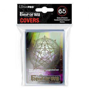 Protèges Cartes illustrées Accessoires Pour Cartes 65 Sur-pochettes Ultra Pro - Force Of Will - Gold Circle Clear - Acc