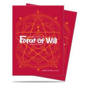 Protèges Cartes illustrées Accessoires Pour Cartes 65 Pochettes Ultra Pro - Force Of Will - Standard Size Rouge - Acc