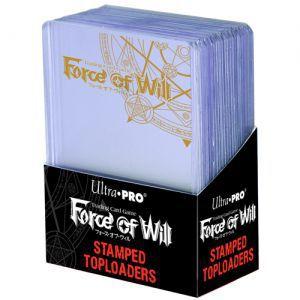 "Protèges Cartes Accessoires Pour Cartes 3"" X 4"" Stamped Toploader - Force Of Will (par 25) - Acc"
