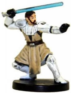 Star Wars Miniatures - The Clone Wars N°1/6 - General Obi-wan Kenobi [Star Wars Miniatures The Clone Wars - Starter] - Figurine Seule