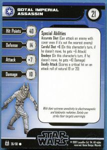 Star Wars Miniatures - The Force Unleashed Star Wars Miniatures 36 - Gotal Imperial Assassin [Star Wars Miniatures - The Force Unleashed] [Carte Seule]