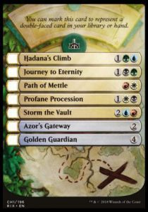 Tokens Magic Magic the Gathering Token/jeton - Les Combattants D'ixalan - Checklist