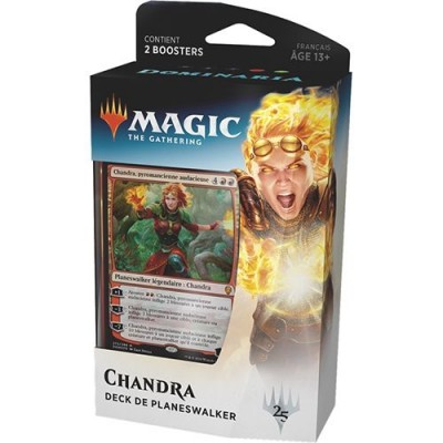 Decks Magic the Gathering Dominaria - Planeswalker Deck - Chandra - Vert/Rouge