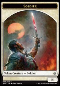 Tokens Magic Magic the Gathering Token/Jeton - Masters 25 - 03/15 Soldat