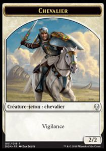 Token Magic Magic the Gathering Token/jeton - Dominaria - 01/16 Chevalier