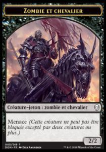 Tokens Magic Token/jeton - Dominaria - 05/16 Zombie Et Chevalier