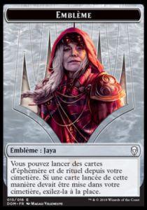 Tokens Magic Accessoires Pour Cartes Token/jeton - Dominaria - (15/16) Emblème Jaya Ballard