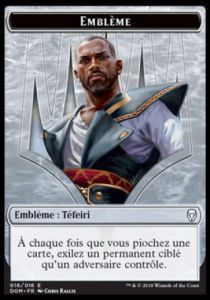 Token Magic Magic the Gathering Token/jeton - Dominaria - 16/16 Emblème Téfeiri, Héros De Dominaria