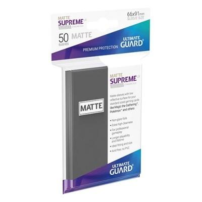 Protèges Cartes  50 Pochettes - Supreme UX - Gris Foncé Matte