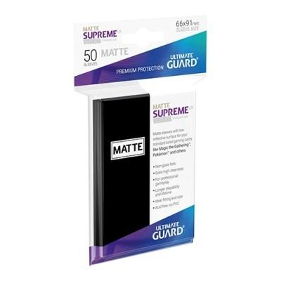Protèges Cartes  50 Pochettes - Supreme UX - Noir Matte