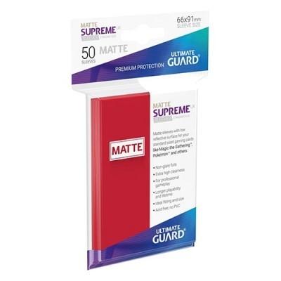 Protèges Cartes 50 Pochettes - Supreme UX - Rouge Matte