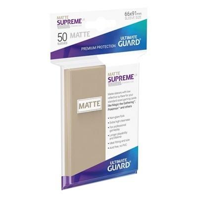 Protèges Cartes 50 Pochettes - Supreme UX - Sable Matte