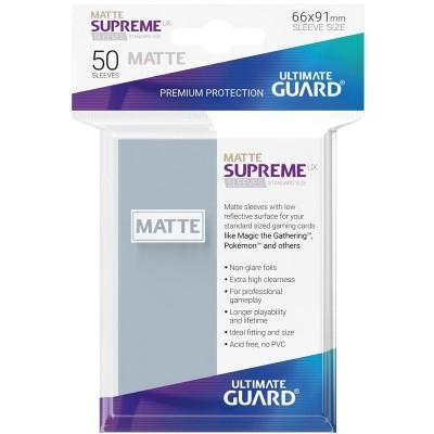 Protèges Cartes Accessoires Pour Cartes Sleeves Standard x50 - Supreme UX - Transparent Matte
