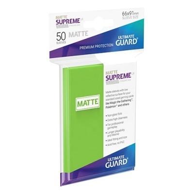 Protèges Cartes Accessoires Pour Cartes Sleeves Standard x50 - Supreme UX - Vert Clair Matte