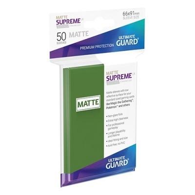 Protèges Cartes Sleeves Standard x50 - Supreme UX - Vert Matte